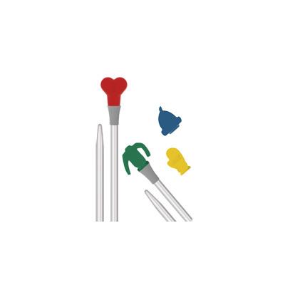 Спицы Addi Прямые алюминиевые с пластиковым сменным наконечником addiTop 4 мм / 20 см (фото, вид 1)