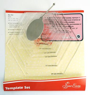Аксессуары Hemline Набор лекал для заготовок-шестигранников, 8 размеров (фото, вид 1)