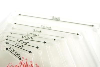 Аксессуары Hemline Набор лекал для заготовок-шестигранников, 8 размеров (фото, вид 2)