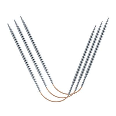 Спицы Addi Спицы чулочные гибкие addiCraSyTrio Long, супергладкие, №4.5, 26 см (фото)
