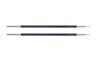 Спицы Knit Pro Спицы съемные Royale 3мм для длины тросика 28-126см, ламинированная береза, фиолетовый, 2шт