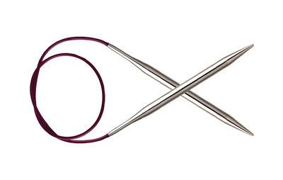 Спицы Knit Pro круговые Nova Metal 3 мм/40 см, никелированная латунь, серебристый