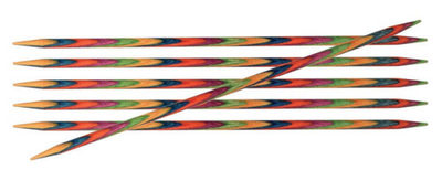 Спицы Knit Pro чулочные 'Symfonie' 3 мм/15 см, дерево, многоцветный, 6шт