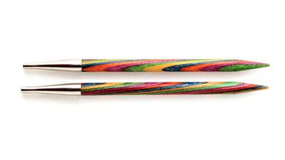 Спицы Knit Pro съемные 'Symfonie' 5,5 мм для длины тросика 20 см, дерево, многоцветный, 2шт