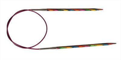 Спицы Knit Pro круговые Symfonie 10 мм/80 см, дерево, многоцветный