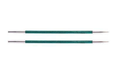 Спицы Knit Pro съемные Royale 3,5 мм для длины тросика 20 см, ламинированная береза, аквамариновый, 2шт