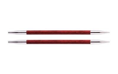 Спицы Knit Pro съемные Royale 5 мм для длины тросика 20 см, ламинированная береза, вишневый, 2шт