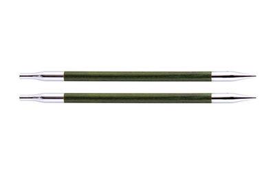 Спицы Knit Pro съемные Royale 5,5 мм для длины тросика 20 см, ламинированная береза, зеленый, 2шт