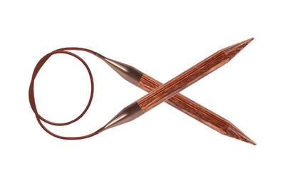 Спицы Knit Pro круговые Ginger 4 мм/80 см, дерево, коричневый
