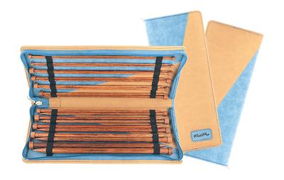 Набор Knit Pro Набор прямых 35 см Ginger (3,5 мм, 4 мм, 4,5 мм, 5 мм, 5,5 мм, 6 мм, 7 мм, 8 мм, 9 мм, 10 мм, 12 мм), дерево, 11 видов спиц