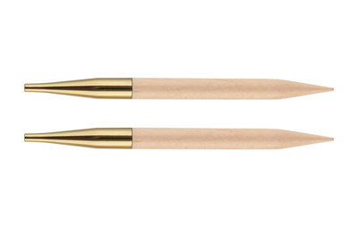 Спицы Knit Pro съемные Basix Birch 6 мм для длины тросика 28-126 см, береза, натуральный, 2шт