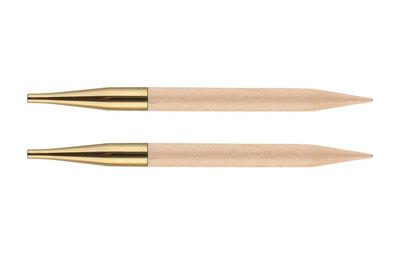 Спицы Knit Pro съемные Basix Birch 4 мм для длины тросика 20 см, береза, натуральный, 2шт