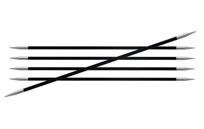 Спицы Knit Pro чулочные Karbonz 1 мм/ 20 см карбон, черный, 5 шт