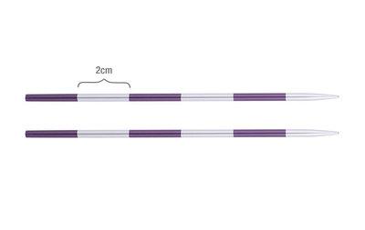 Спицы Knit Pro съемные SmartStix 3,75 мм для длины тросика 28-126 см, алюминий, серебристый/аметистовый