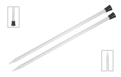 Спицы Knit Pro прямые Basix Aluminum 6 мм/35 см, алюминий, серебристый, 2шт