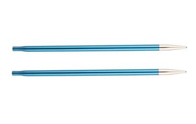 Спицы Knit Pro съемные Zing 4 мм для длины тросика 28-126 см, алюминий, сапфир (т.синий) 2шт