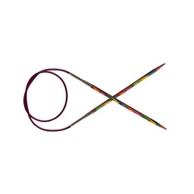 """Спицы Knit Pro круговые """"Symfonie"""" 4 мм/40 см, дерево, многоцветный"""