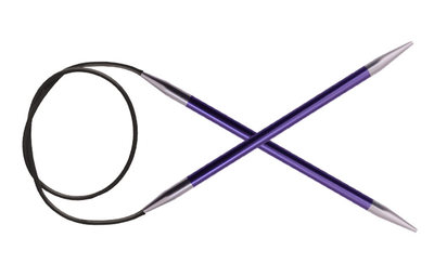 "Спицы Knit Pro круговые ""Zing"" 7 мм/80 см, алюминий"