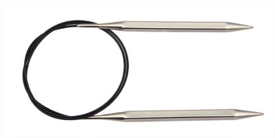 """Спицы Knit Pro круговые """"Nova Cubics"""" 2,5мм/40см, никелированная латунь, серебристый"""