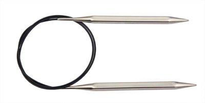 """Спицы Knit Pro круговые """"Nova Cubics"""" 2,5мм/80см, никелированная латунь, серебристый"""