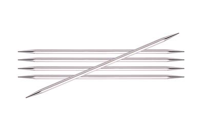 """Спицы Knit Pro чулочные """"Nova cubics"""" 2,5мм/20см, никелированная латунь, серебристый, 5шт"""