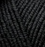 Пряжа Alize Lana Gold Plus (49% шерсть, 51% акрил) 5х100г/140м цв.060 черный