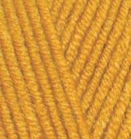 Пряжа Alize Lana Gold Plus (49% шерсть, 51% акрил) 5х100г/140м цв.645 горчичный