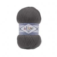 Пряжа Alize Lana Gold 800 (49% шерсть, 51% акрил) 5х100г/800м цв.348 т.серый