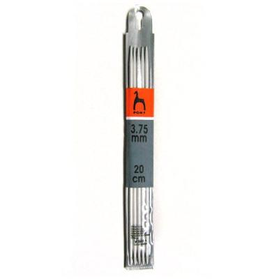 Спицы Pony Чулочные алюминиевые (20 см № 3.75)