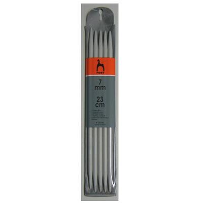Спицы Pony Чулочные алюминиевые (23 см № 7)