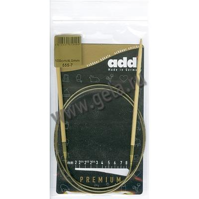 Спицы Addi Круговые бамбуковые 4 мм / 100 см