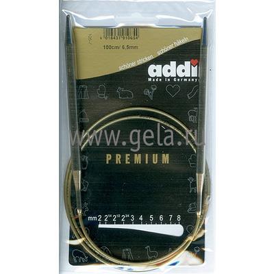 Спицы Addi Круговые супергладкие 6.5 мм / 100 см