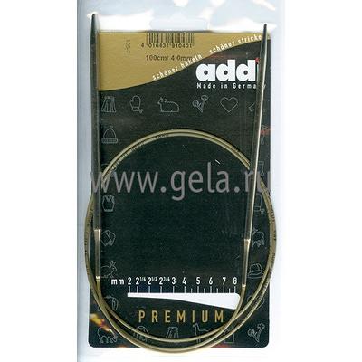 Спицы Addi Круговые супергладкие 4 мм / 100 см