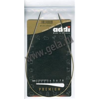 Спицы Addi Круговые супергладкие 2.5 мм / 40 см