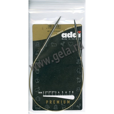 Спицы Addi Круговые супергладкие 4 мм / 40 см