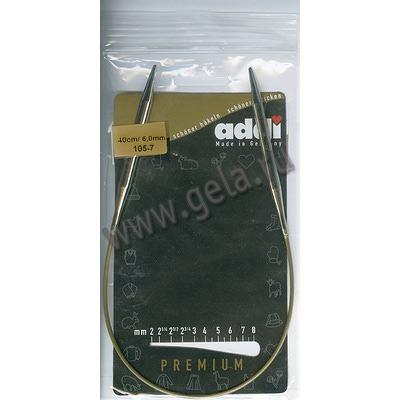 Спицы Addi Круговые супергладкие никелевые 6 мм / 40 см