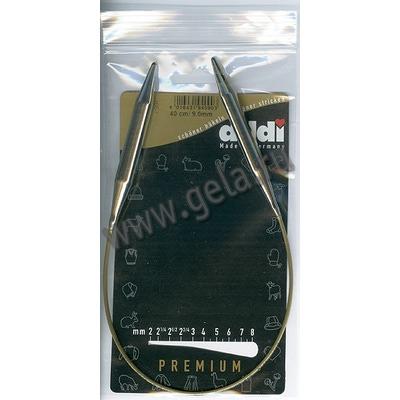 Спицы Addi Круговые супергладкие 9 мм / 40 см