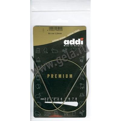 Спицы Addi Круговые супергладкие 2 мм / 50 см