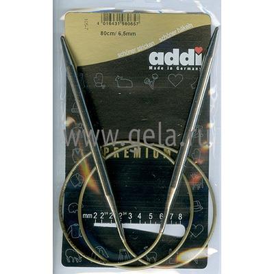 Спицы Addi Круговые супергладкие 6.5 мм / 80 см