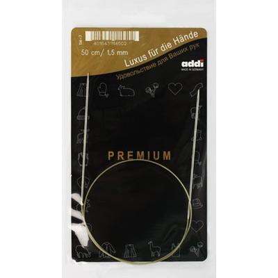 Спицы Addi Круговые супергладкие экстратонкие 1.5 мм / 50 см