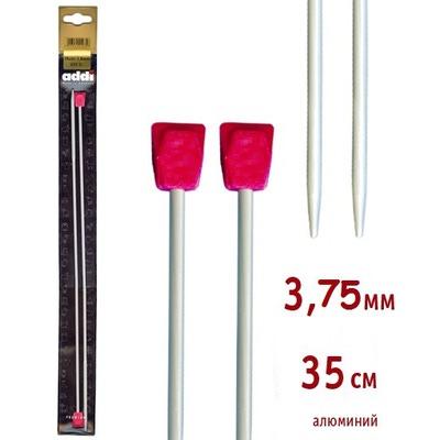 Спицы Addi Прямые алюминиевые 3.75 мм / 35 см