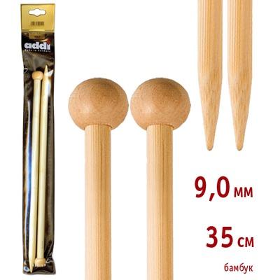 Спицы Addi Прямые бамбуковые 9 мм / 35 см