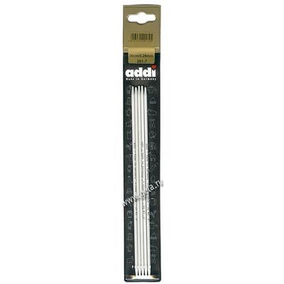 Спицы Addi Чулочные алюминиевые 3.25 мм / 20 см