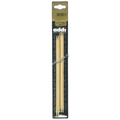 Спицы Addi Чулочные бамбуковые 3.75 мм / 20 см