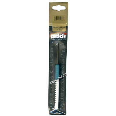 Крючок Addi Вязальный с пластиковой ручкой 3.75 мм / 15 см
