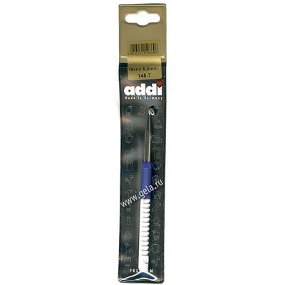 Крючок Addi Вязальный с пластиковой ручкой 6 мм / 15 см