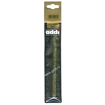 Крючок Addi Вязальный пластиковый 8 мм / 15 см