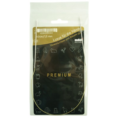 Спицы Addi Круговые супергладкие экстратонкие 1.5 мм / 40 см