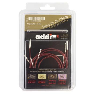 Аксессуары Addi Набор дополнительных лесок 40, 50, 60, 80 и 100 см и соединительные устройства к addiClick
