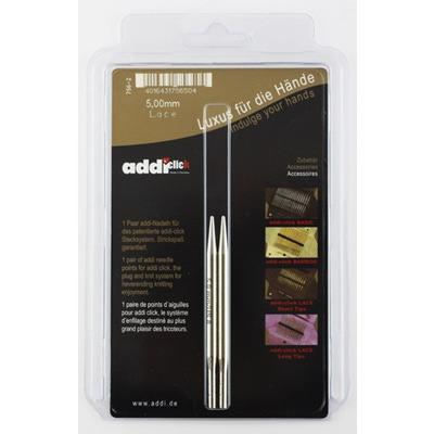 Аксессуары Addi Дополнительные спицы с удлиненным кончиком к addiClick LACE, латунь 5 мм